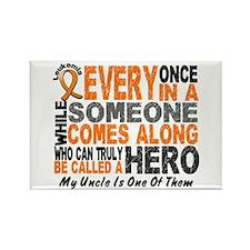 HERO Comes Along 1 Uncle LEUKEMIA Rectangle Magnet