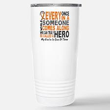 HERO Comes Along 1 Uncle LEUKEMIA Travel Mug