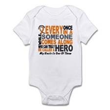 HERO Comes Along 1 Uncle LEUKEMIA Infant Bodysuit