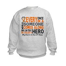 HERO Comes Along 1 Uncle LEUKEMIA Sweatshirt