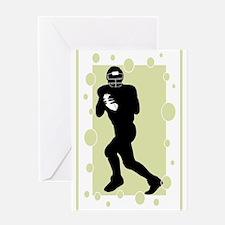 Quarterback Greeting Card