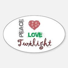 oddFrogg Peace Love Twilight Bumper Decal