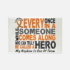 HERO Comes Along 1 Nephew LEUKEMIA Rectangle Magne