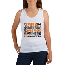 HERO Comes Along 1 Cousin LEUKEMIA Women's Tank To
