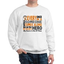 HERO Comes Along 1 Cousin LEUKEMIA Sweater