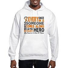 HERO Comes Along 1 Cousin LEUKEMIA Hoodie