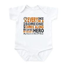 HERO Comes Along 1 Cousin LEUKEMIA Infant Bodysuit