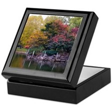 Public Garden in Autumn Keepsake Box