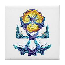 Imbolc Butterflies Tile Coaster