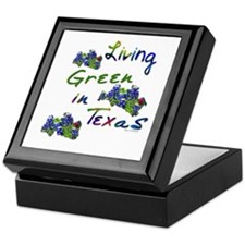 Living Green In Texas Keepsake Box
