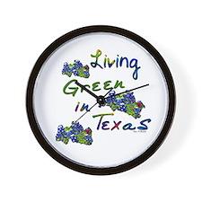 Living Green In Texas Wall Clock