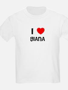 I LOVE GIANA Kids T-Shirt