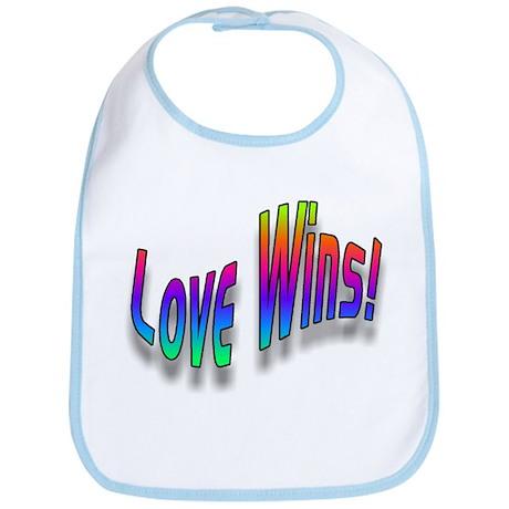"""""""3-D Rainbow Love Wins"""" Bib!"""