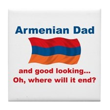 Gd Looking Armenian Dad Tile Coaster