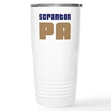 Navy Scranton Pennsylvania Travel Mug