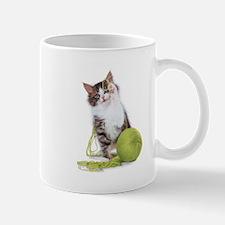 kitty with yarn Mug