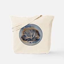 sleeping shar pei Tote Bag