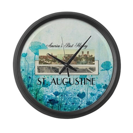 St. Augustine Americasbesthistory Large Wall Clock