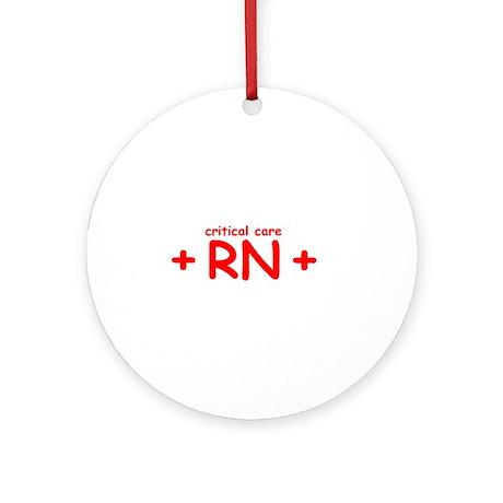 Critical Care RN Ornament (Round)