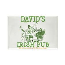 David's Vintage Irish Pub Rectangle Magnet