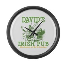 David's Vintage Irish Pub Large Wall Clock