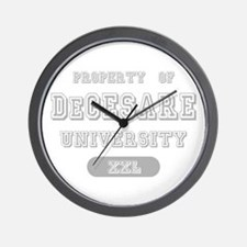 Property of DeCesare University Wall Clock