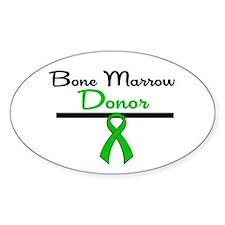 Bone Marrow Donor Ribbon Oval Decal