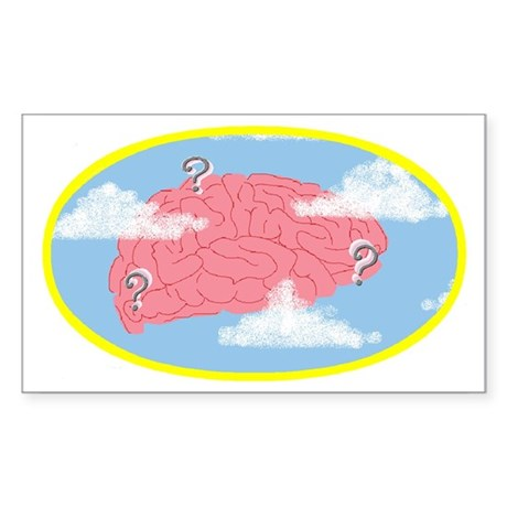 Clouded Thought - Rectangle Sticker