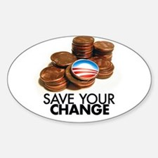 save your change Oval Decal