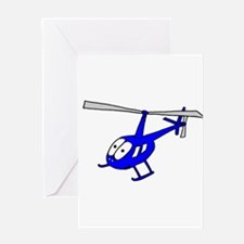 R22 Blue Greeting Card