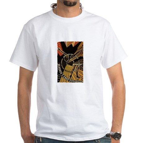 Man with a movie Camera - Mens' White T-Shirt