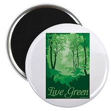 "Live Green 2.25"" Magnet (100 pack)"