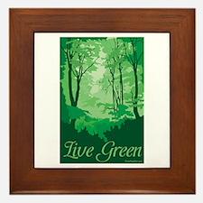 Live Green Framed Tile