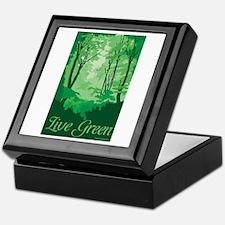 Live Green Keepsake Box
