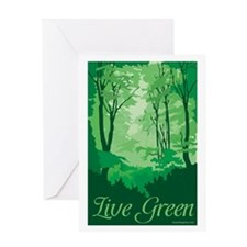 Live Green Greeting Card