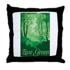 Live Green Throw Pillow