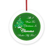 More Chrome Ornament (Round)