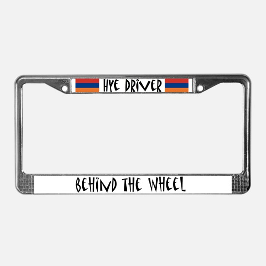 Hye Driver Behind The Wheel - License Plate Frame