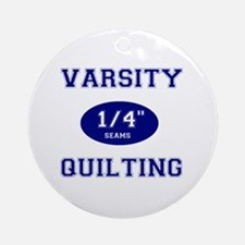 Varsity Quilting Ornament (Round)