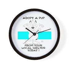 Adopt A Pup Wall Clock