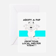 Adopt A Pup Greeting Card