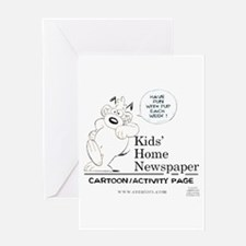 Kids' Home Newspaper Greeting Card