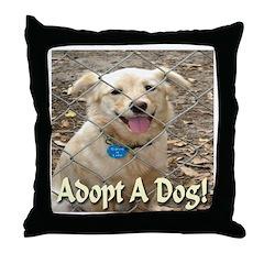 Adopt A Dog! Throw Pillow
