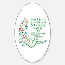 Children Grow Oval Decal