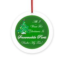 More Snowmobile Parts Ornament (Round)
