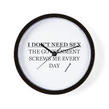 Cute Funny political Wall Clock