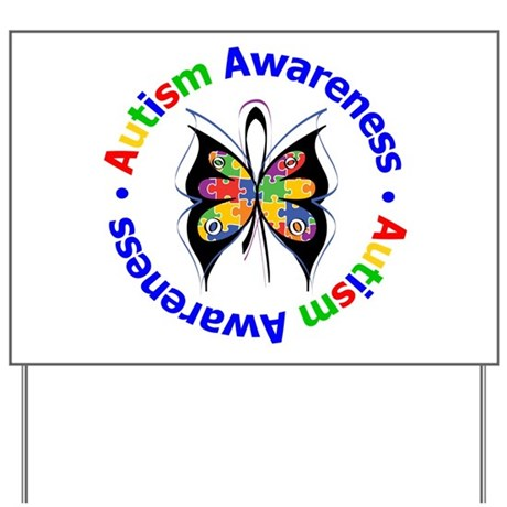 Autism FaithLoveCure Yard Sign
