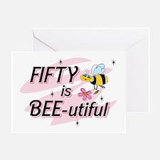 BEE-utiful 50 Greeting Card