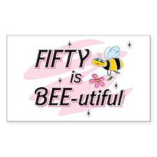 BEE-utiful 50 Rectangle Decal