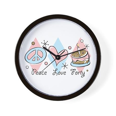 Peace Love 40 Wall Clock